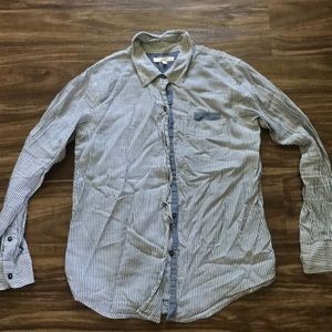 Eliot Madewell Button Down Striped Shirt XS